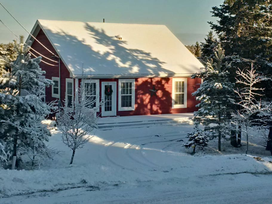 In winter our place is like a story book!  Such a beautiful, cozy place to curl up by the fireplace!