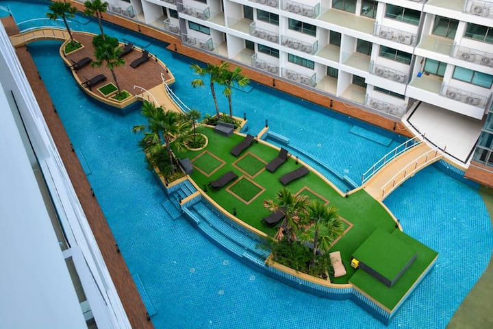 Spacious Sea View with waterpark near beach