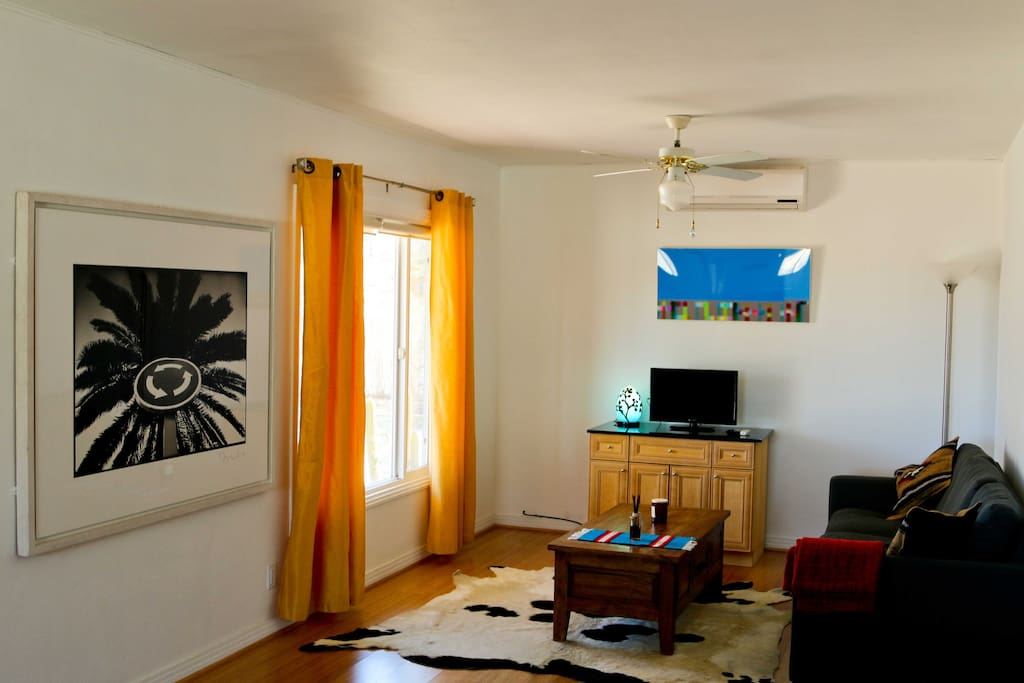 One bedroom, Comfortable living room with heat, AC, Netflix TV and  internet Wi-Fi.