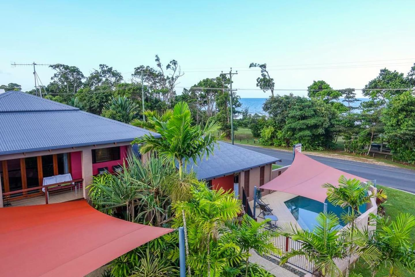 The Condominium (3 apartments) overlooking the ocean and Dunk Island.