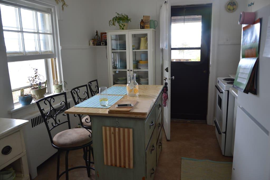 Kitchen and door to balcony