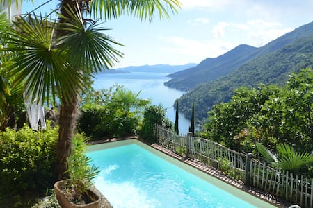 Haus mit herrlichem Panorama-Seeblick,privat Pool - Cannero Riviera - 獨棟