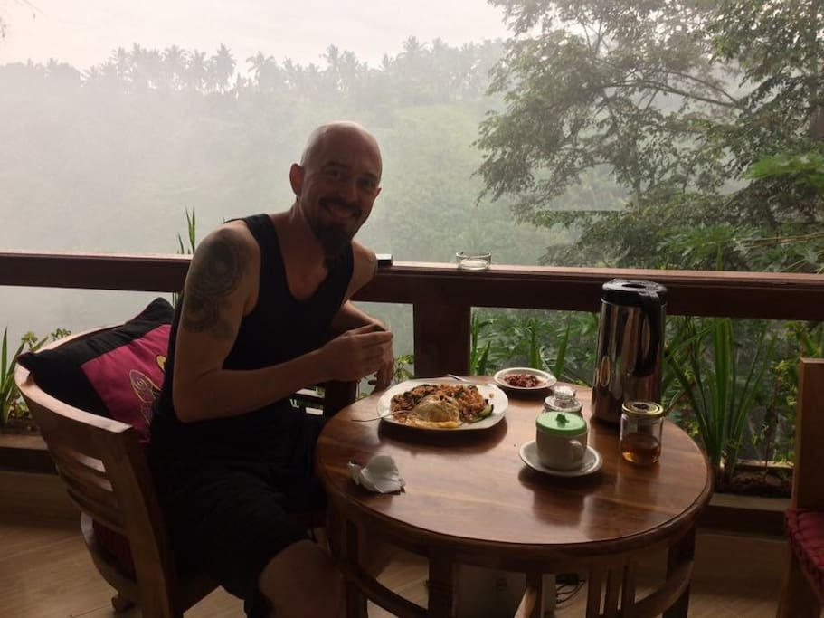 Breakfast from private balcony
