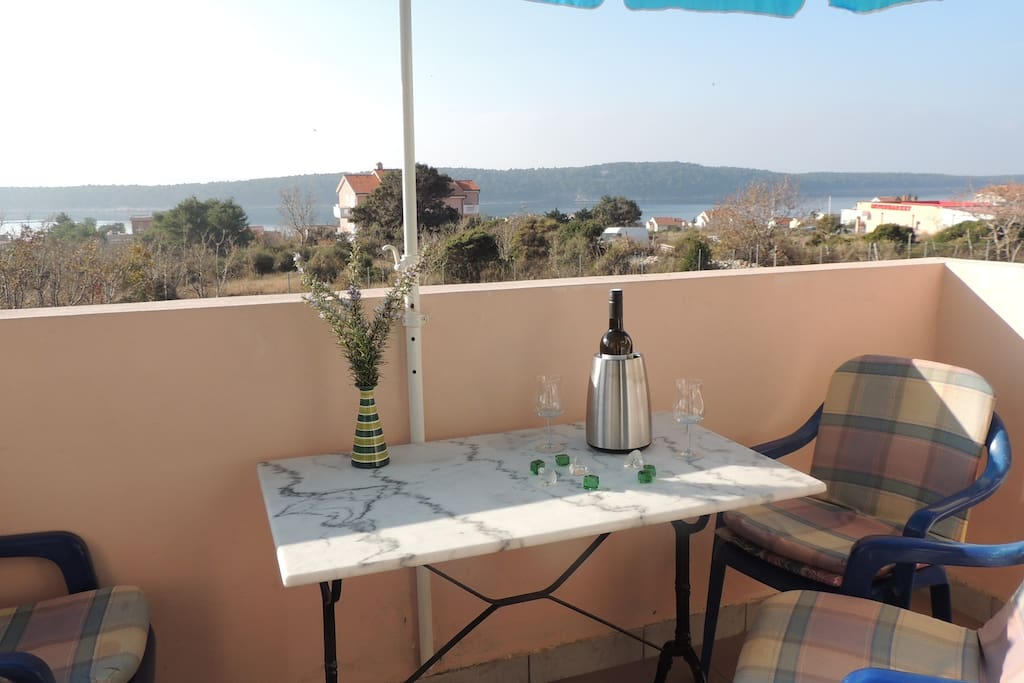 Balcony is a perfect place to have a glass of wine