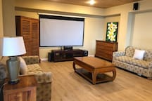 Huge media room with three sofa beds and Air Conditioning for Movie nights or the kids room