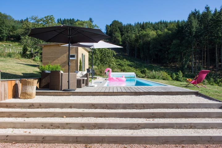 Lodge confortable  et élégant en pleine nature!