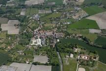 Vue haute du village de Verteillac