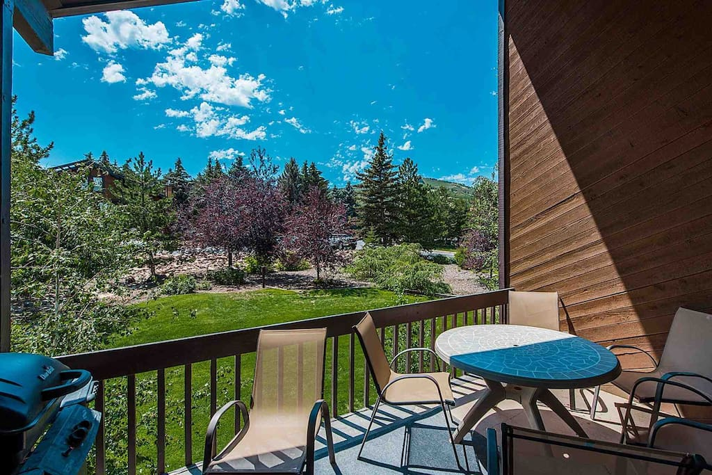 Situated off of the the living room is your private covered balcony with patio set with seating for six (6) and BBQ.