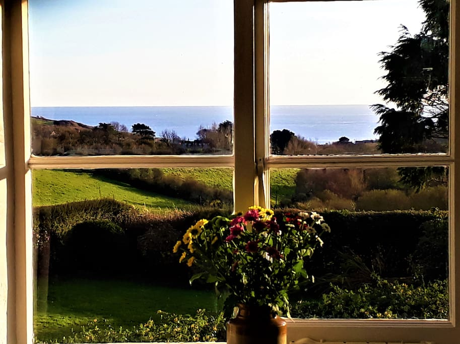 Sea views from the bedrooms