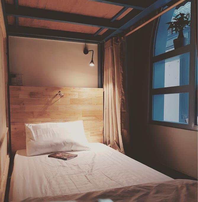 single bed in Dorm room