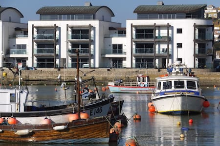 Quayside House, West Bay. Luxury harbourside home.