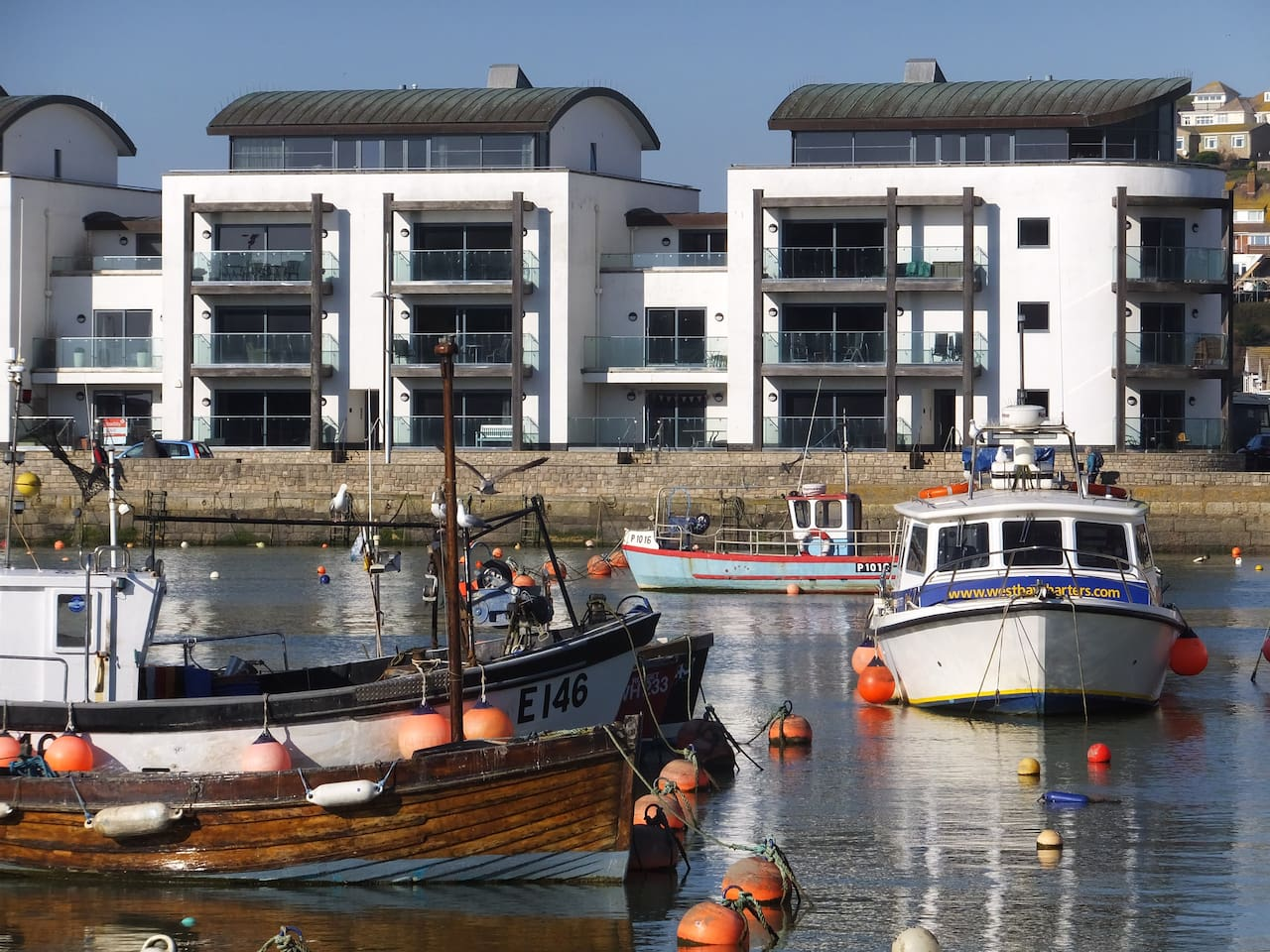 Quayside House across the Harbour