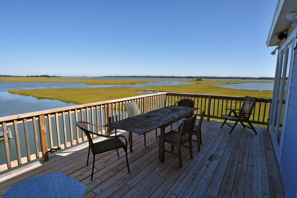View of Assateague from North Deck. A great place for morning coffee!