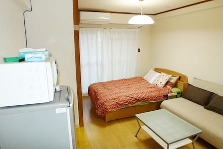 Between Station and City centre. Rent a car - Kagoshima-shi - Apartemen