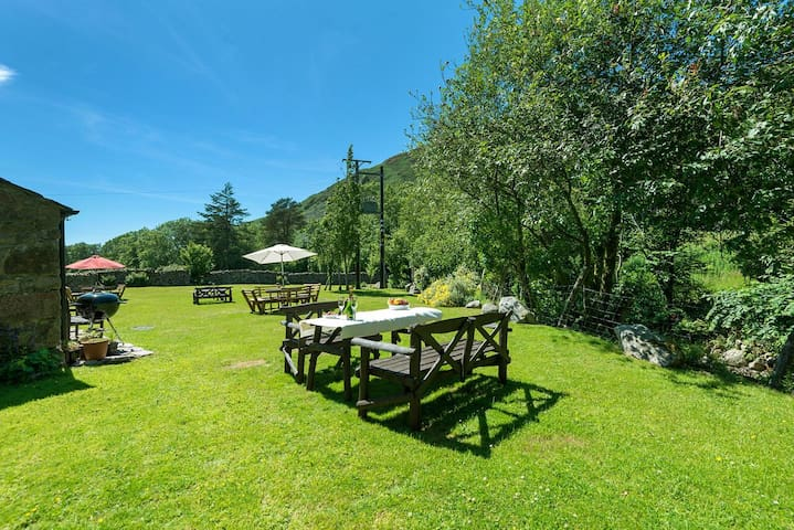 Enjoy a BBQ in our riverside paddock with fabulous fell views