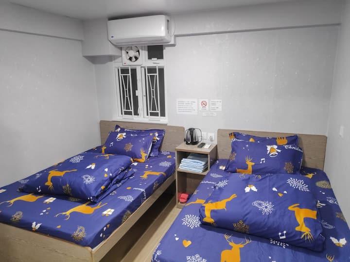 New★(4PPL)Quadruple room in Tsim Sha Tsui