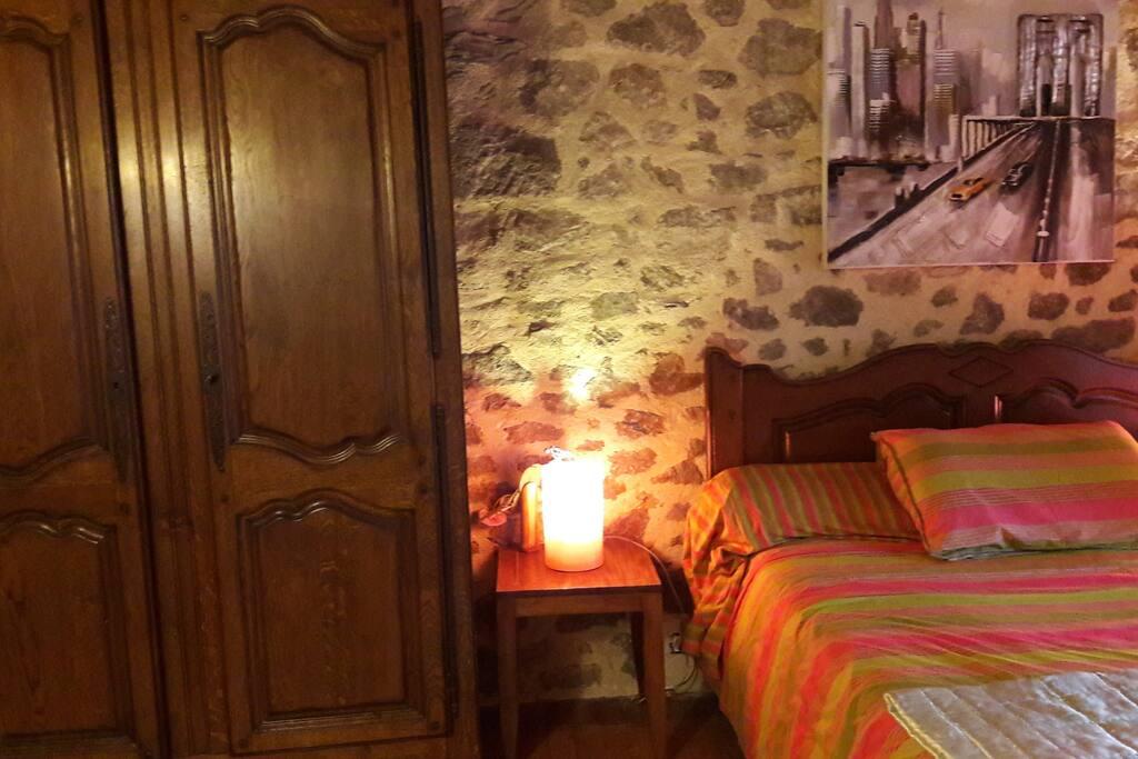Chambre lit en 140/190matelas mémoire de forme