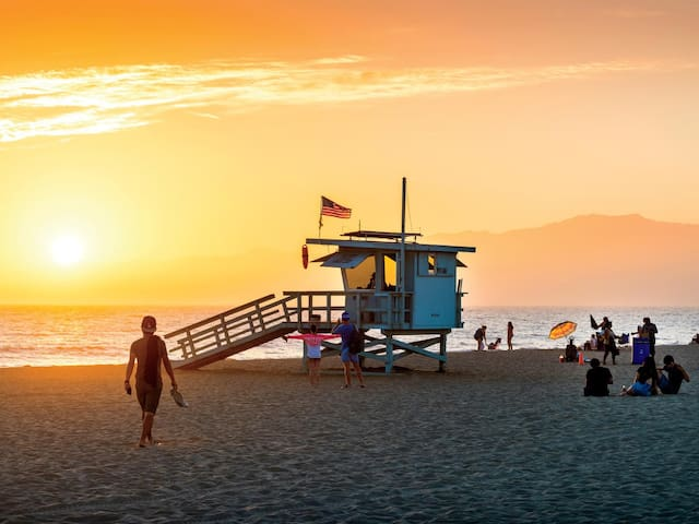 Watch the breathtaking sunsets you get on the West Coast