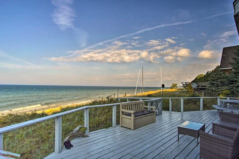 Lakefront Montague Cottage on a Private Beach!