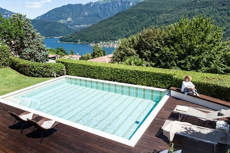 Lugano Stylish Villa - lake views, pool & elevator - House