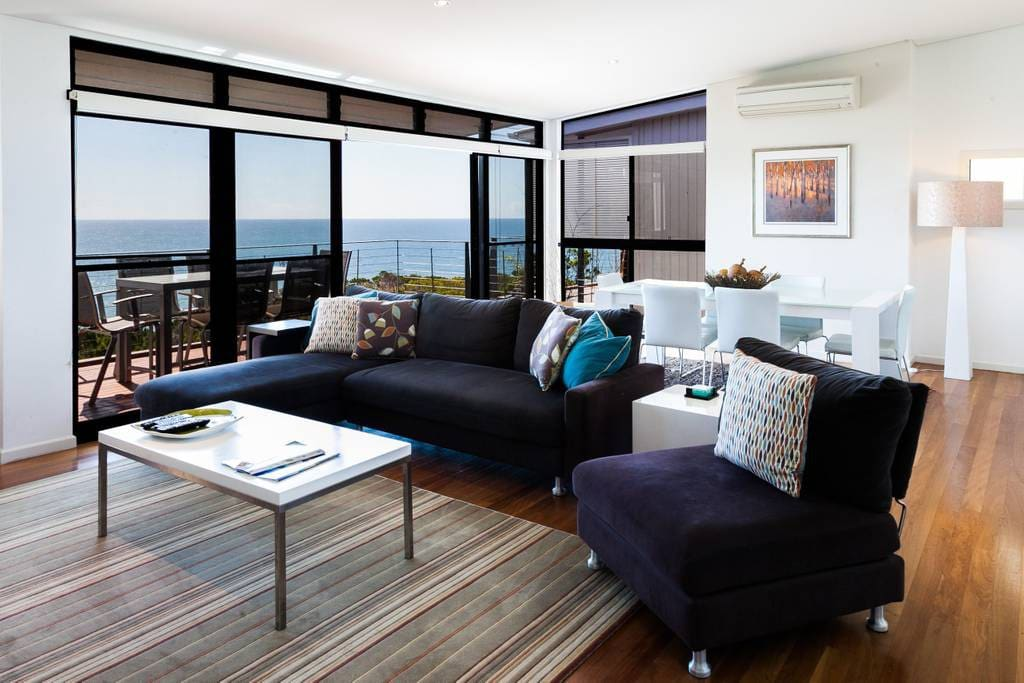 Living space with ocean views