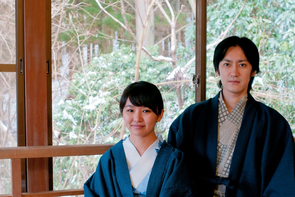 Yukata (Japanese Summer Wear) is free for rent :)