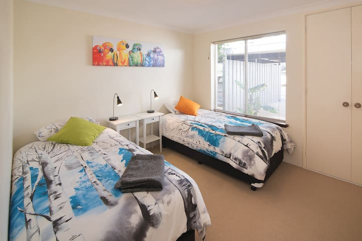 The third bedroom has 2 king singles, ideal for families or small groups.