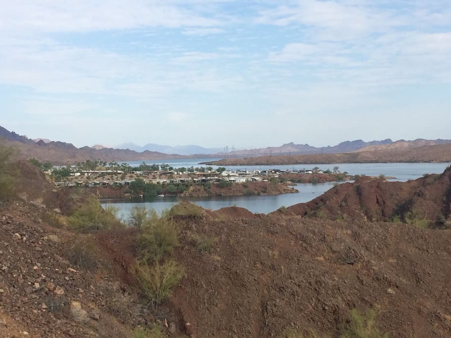 Havasu Springs ( at the end of the lake near Parker, great breakfast place!) you can drive or boat there. About 15 mikes down the road.