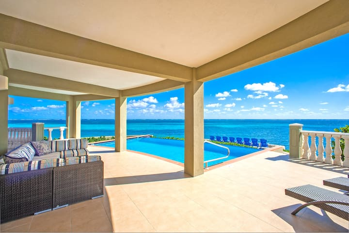 Cayman Castle & Guesthouse: Luxury Gated Estate with Infinity Pool and Private Beach