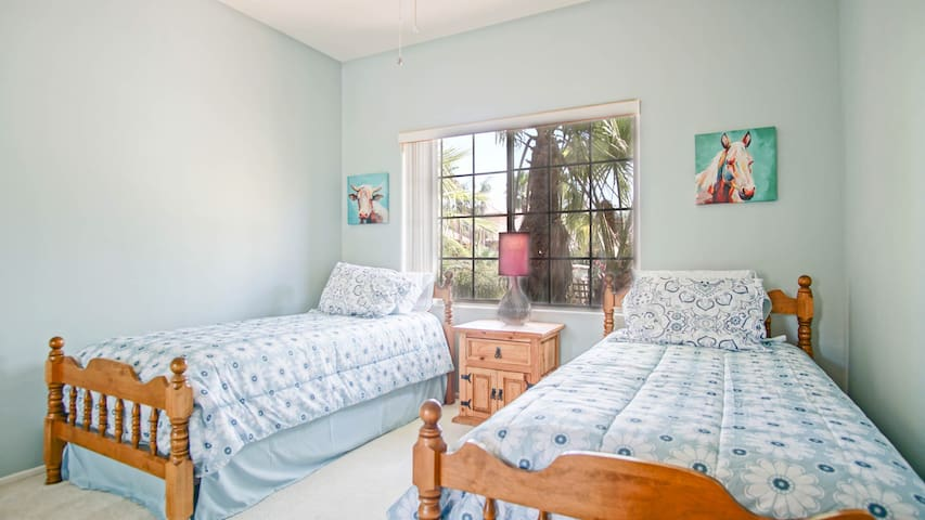 Cute twin bedroom for the kiddos or adults