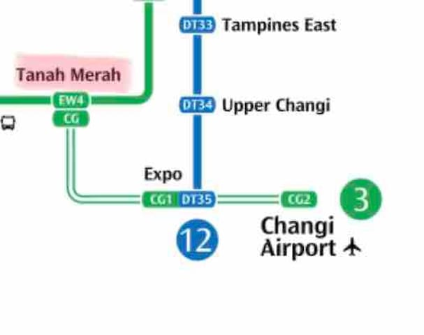 1 min to MRT, 15 min to airport