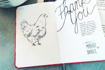 Sweet Thank you notes from guests in our guest book.