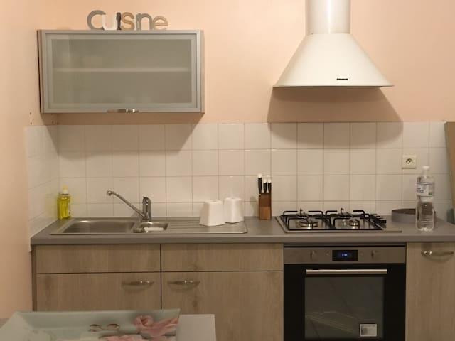 La cuisine entièrement équipée