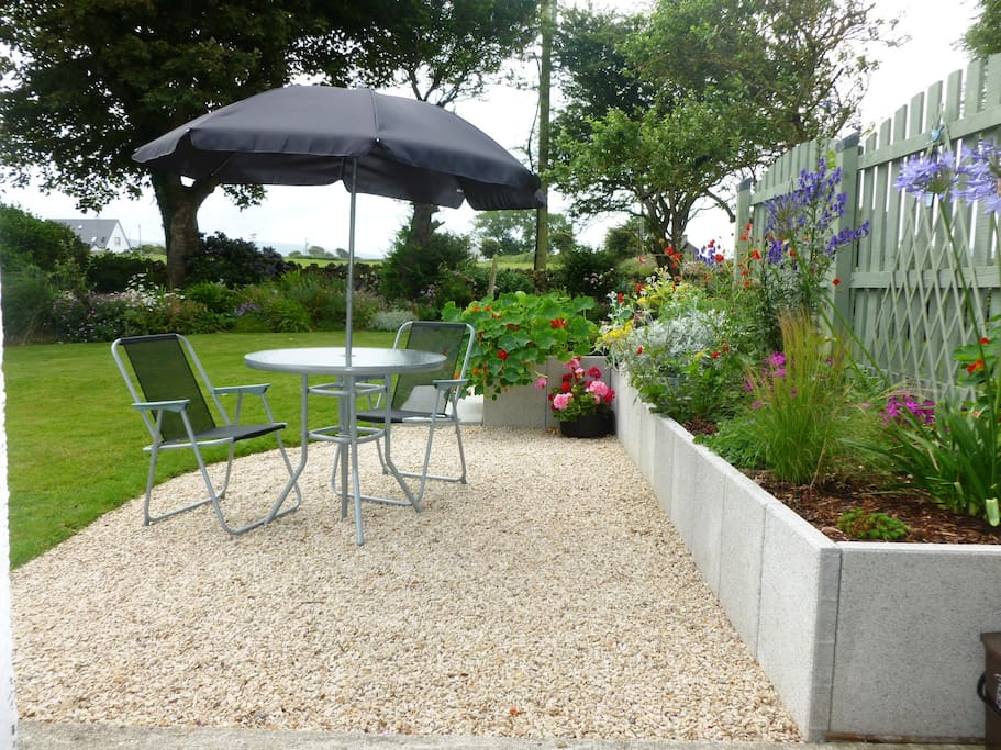 Private Patio with garden furniture