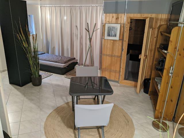 Modernes Zimmer mit Privat-Bad & Sauna & Fitness