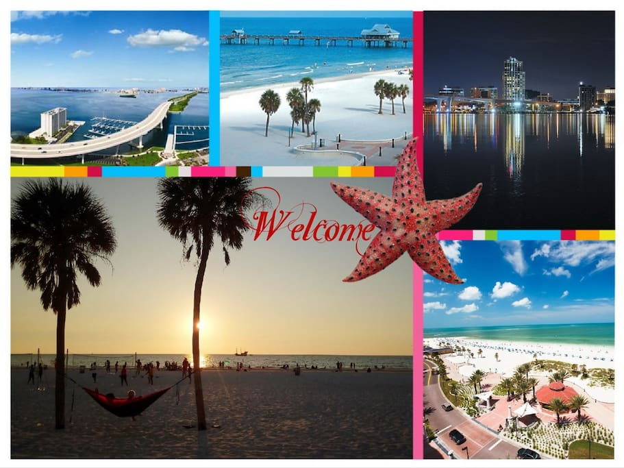 Clearwater Beach - home of pristine white sand beaches, clear gulf waters, warm sunshine