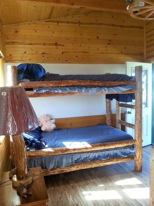 this is the bunk beds. All beds are in the same room.