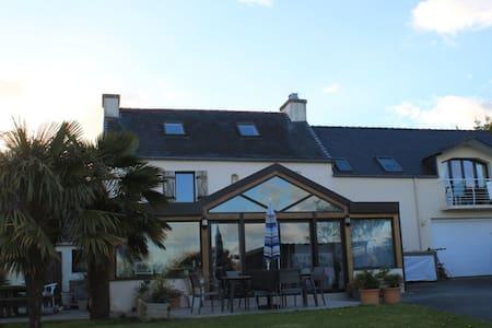 Chambre avec vue mer et jardin - Plougastel-Daoulas - Rumah