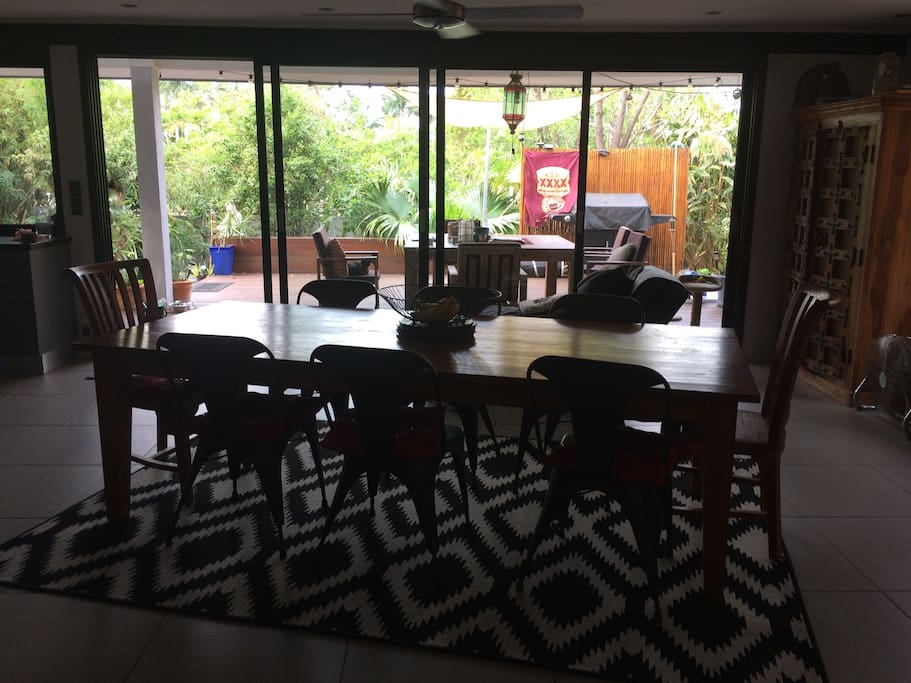 Dining room that leads onto the deck