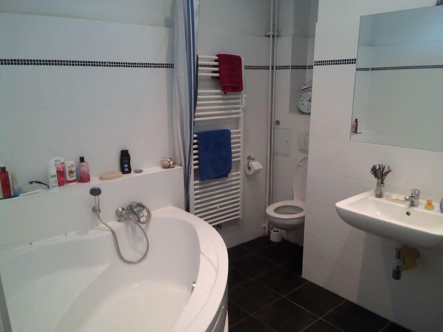 Bathroom - Bathtub/shower, towel heater and clothes washer