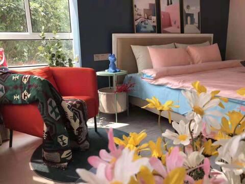 上海生态崇明东平国家森林公园 花博小筑 温馨两居室民宿