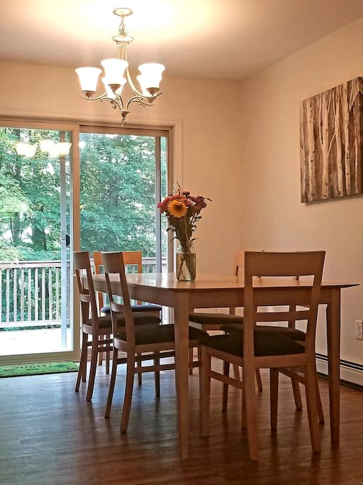 Dining room table and porch