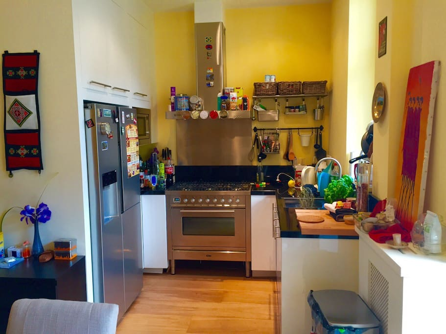Fully equiped kitchen (American fridge, professional oven, micro-wave, juicer, dish washer)