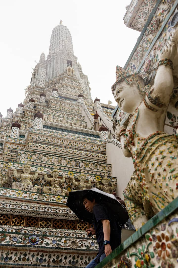 Wat Arun on a Rainy Day
