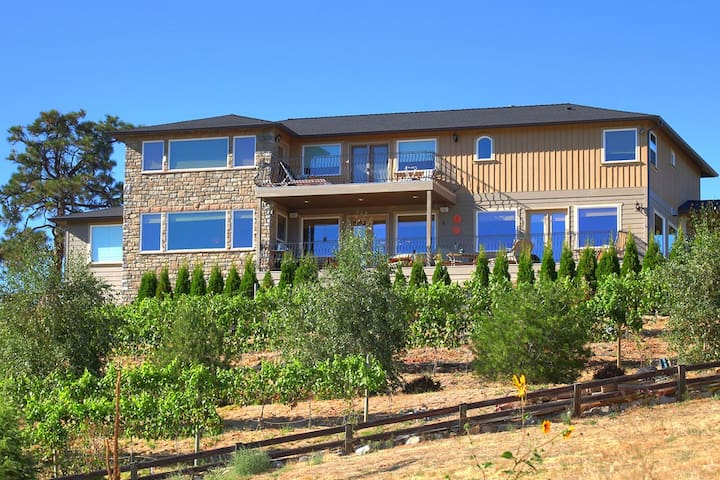 Chelan Vineyard over the Lake - Manson - Huis