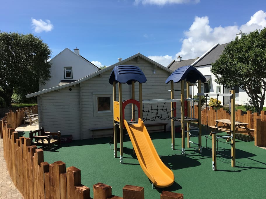 The new Kompan playzone installed in 2017, with rubberised flooring all made to council specifications