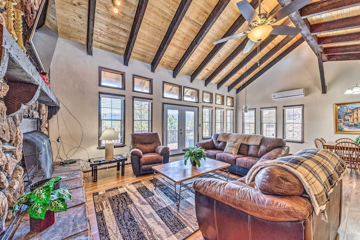 NEW! Modern Mtn Condo: Game Room, BBQ, Fireplaces!