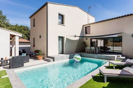 Chambre dans une maison contemporaine en garrigue - Murviel-lès-Montpellier