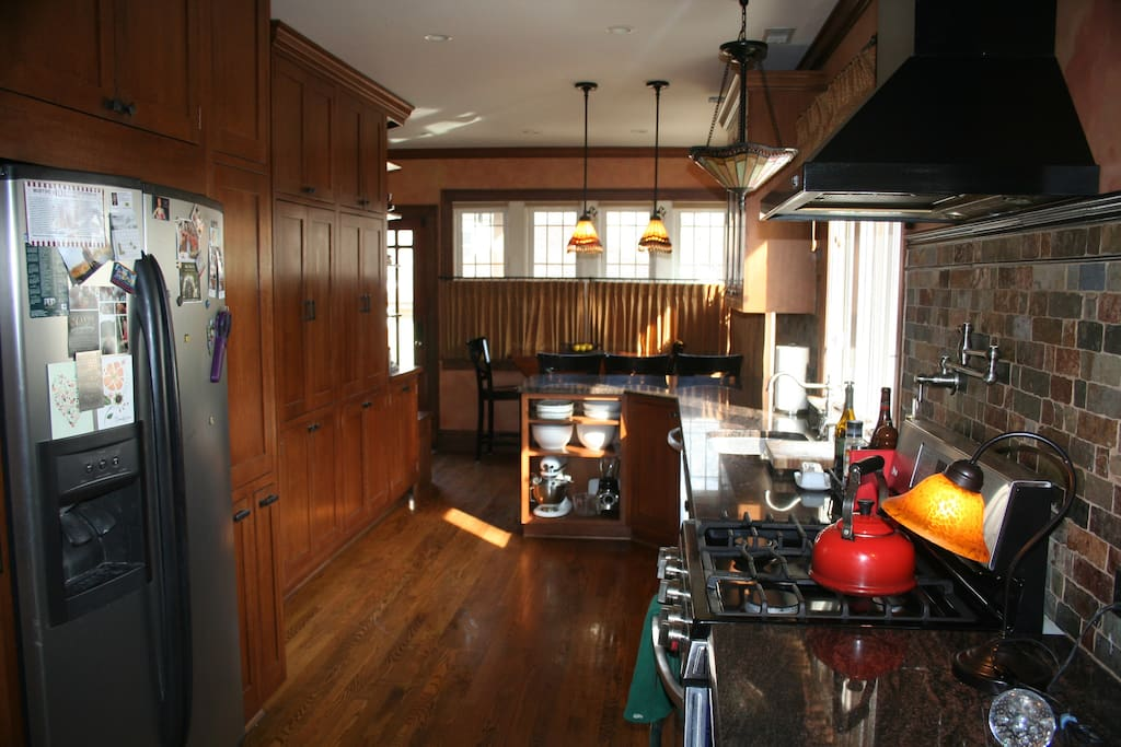 Updated kitchen and eating area.