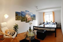 Central room in romantic Füssen
